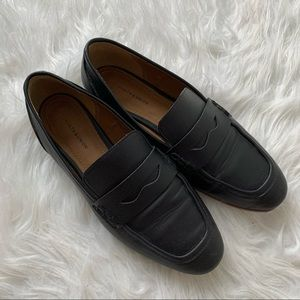 14th & Union Size 5 Black Leather Loafers